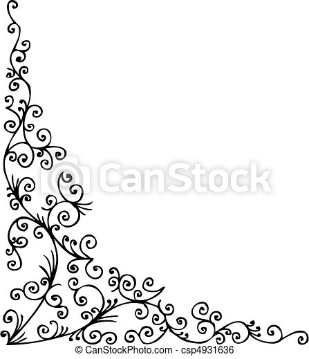 Baroque gefrorene Vignette LVI - csp4931636