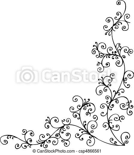 gefrorenes, barock, xvii, vignette - csp4866561