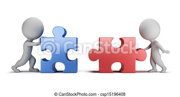gegenseitig, leute, -, verwandtschaft, klein, 3d - csp15196408