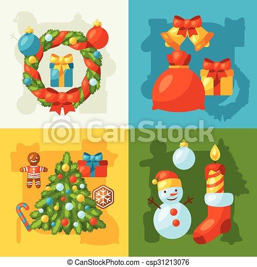 Gegenstand, gruß, fröhlich, karten, feiertag, weihnachtsfeier. Gruß ...