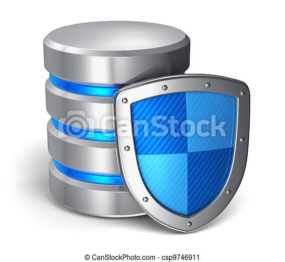 gegevensveiligheid, concept, computer, databank - csp9746911