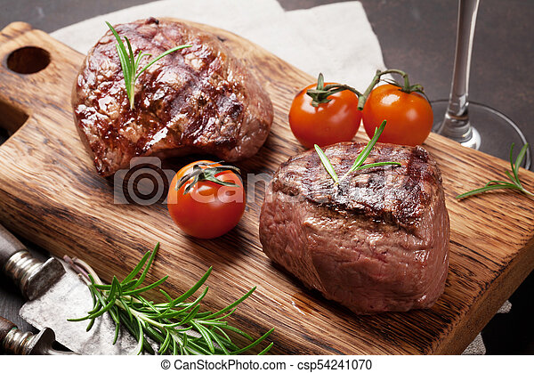 gegrillt, steak, filet - csp54241070