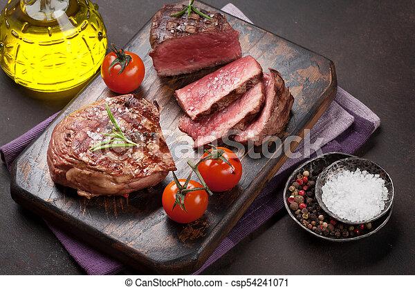 gegrillt, steak, filet - csp54241071