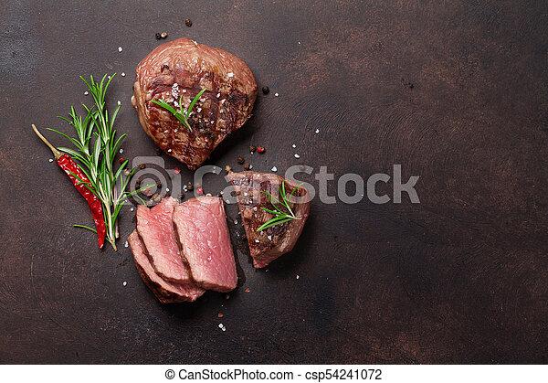 gegrillt, steak, filet - csp54241072