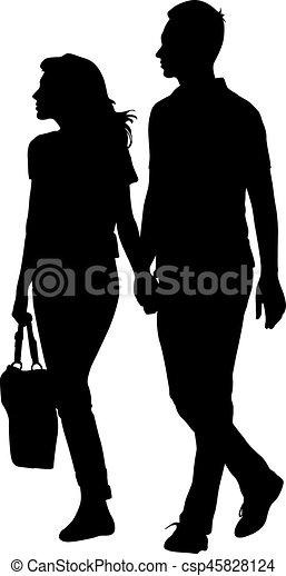 Frauen, die von Mann zu Mann gehen