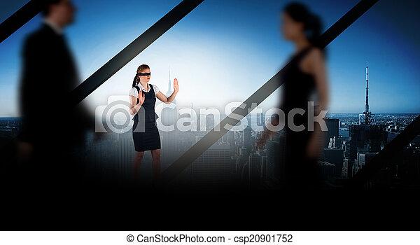 gehen, geschäftsmenschen, vermischt bild, verwischen - csp20901752