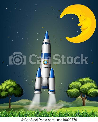 Rakete Mond