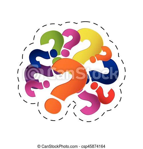 Gehirn, bild, fragezeichen. 10, bild, frage, eps, abbildung ...