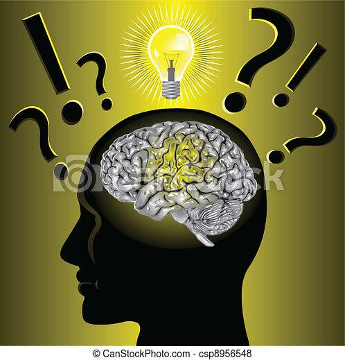 gehirn, problem, lösen, idee - csp8956548