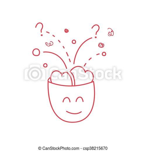 Gehirn voll zeichen ideen lustiges stil voll kindisch zeichen ideen abbildung hand - Zeichen ideen ...
