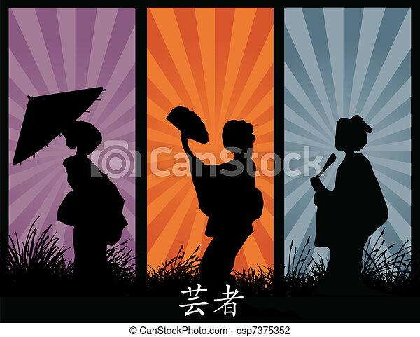 geishas - csp7375352