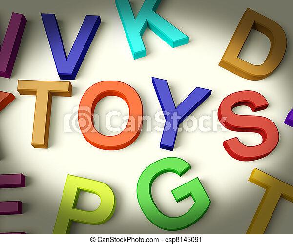 geitjes, brieven, plastic, geschreven, speelgoed, veelkleurig - csp8145091
