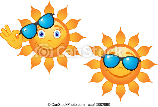 gekke , zonnebrillen, zon - csp13882890