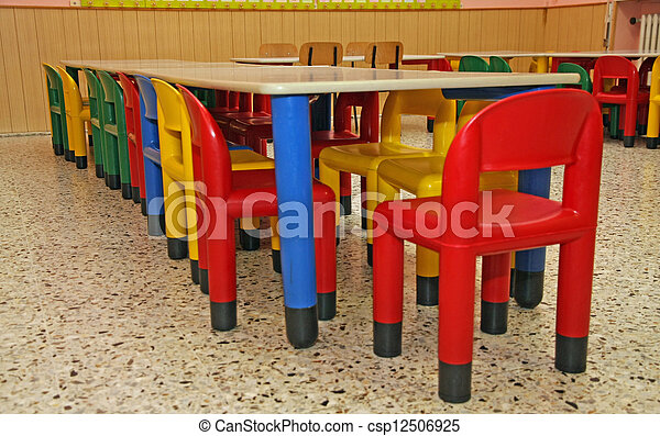 Plastic Stoel Kind : Gekleurde stoelen plastic eetzaal tafel kinderen preschool.