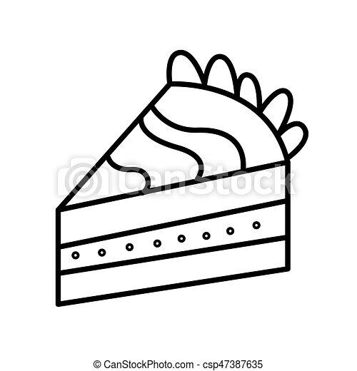 Gekritzel Abbildung Hand Vektor Kuchen Gezeichnet Linie Stuck