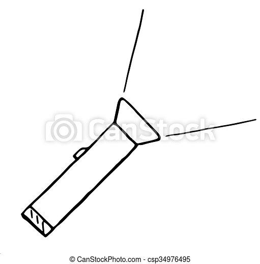Taschenlampe clipart  EPS Vektorbilder von gekritzel, abbildung, hand, vektor ...