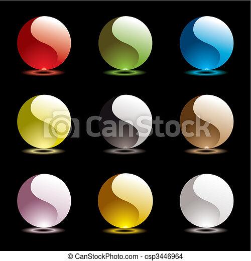 Gel round ying yang - csp3446964