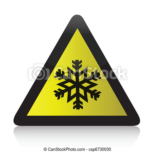 gelado, aviso, triangular, sinal - csp6730030