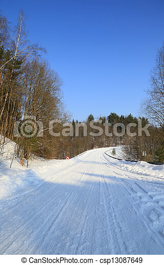 gelado, inverno, dia - csp13087649