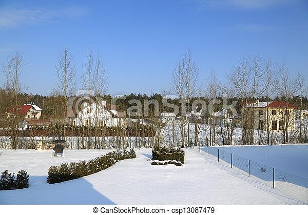 gelado, inverno, dia - csp13087479