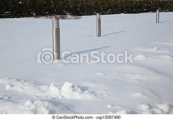 gelado, inverno, dia - csp13087490