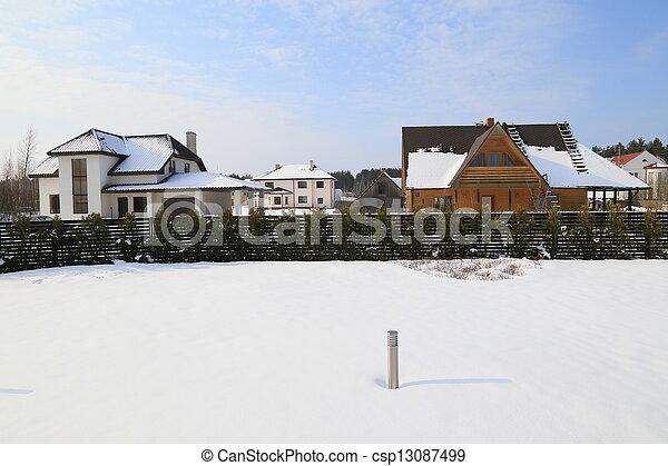 gelado, inverno, dia - csp13087499
