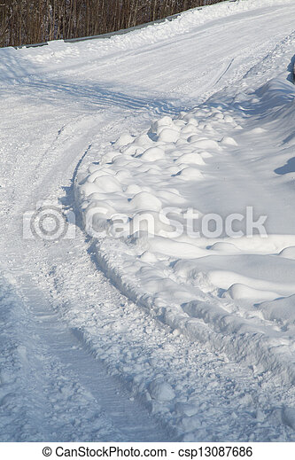gelado, inverno, dia - csp13087686