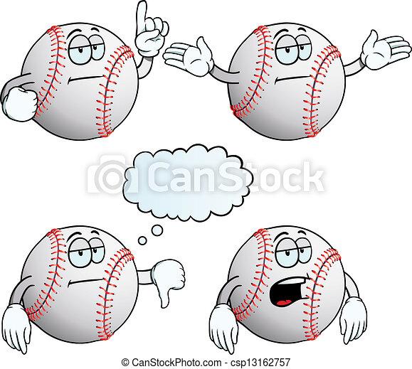 gelangweilte , satz, baseball - csp13162757