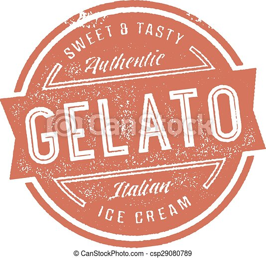Gelato Ice Cream Stamp - csp29080789