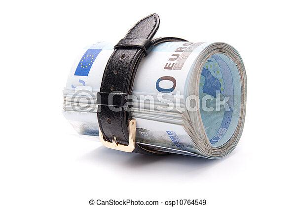 geld, aantrekken, concept, -, riem - csp10764549