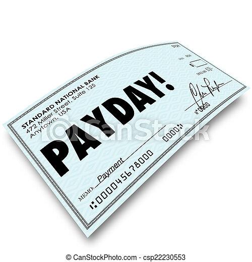 geld, arbeit, zahltag, kontrollieren, entschädigung, einkommen, zahlung - csp22230553