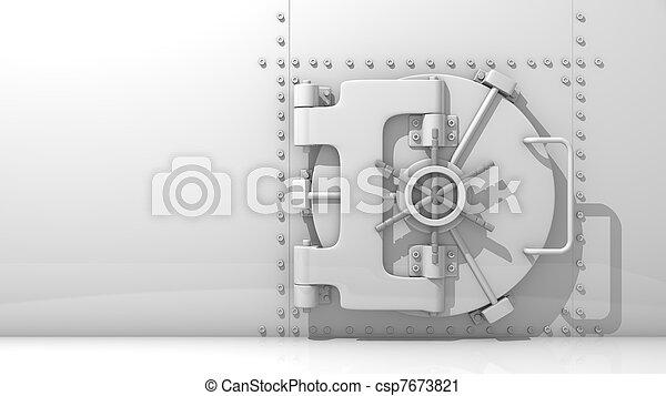 geld, brandkast, jouw, de kluis van de bank - csp7673821