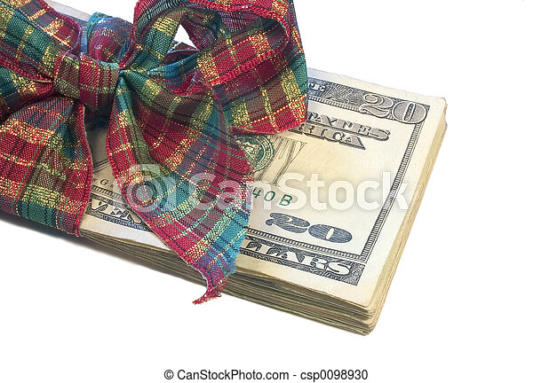 geld, cadeau - csp0098930