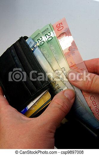 geld, canadees - csp9897008