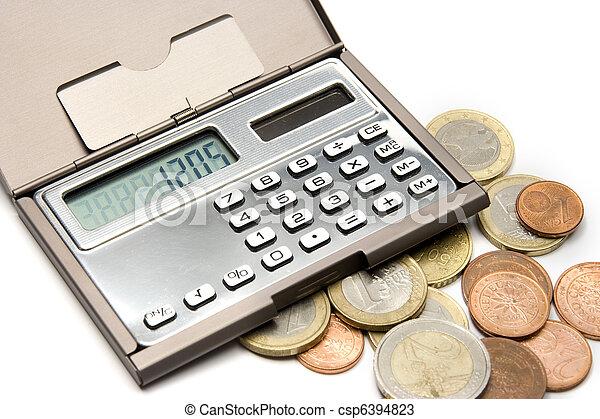 geld, concept, het berekenen - csp6394823