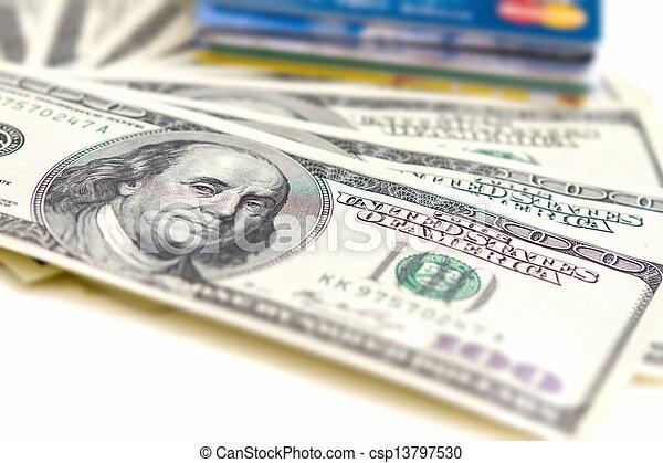 geld, concept, kaarten, bankwezen - csp13797530