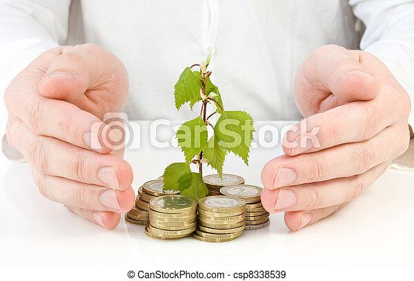 geld, goed, vervaardiging, investering - csp8338539