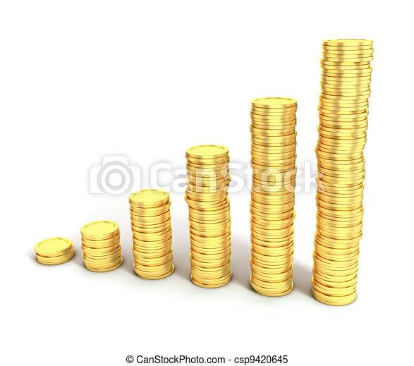geld, groei, financieel, of, besparing - csp9420645
