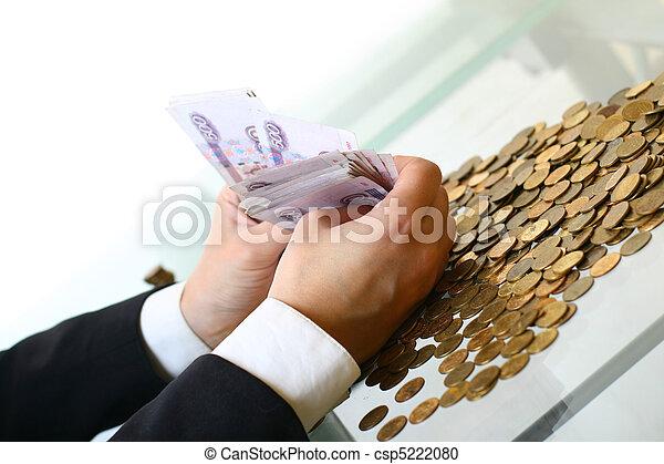 geld, hände halten - csp5222080