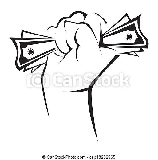 Hand mit Geld - csp18282365