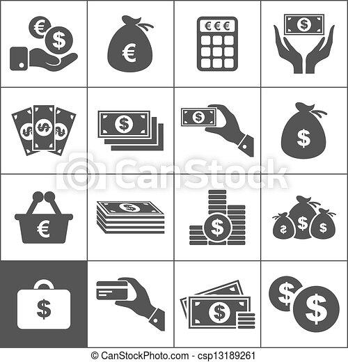 geld, ikone - csp13189261