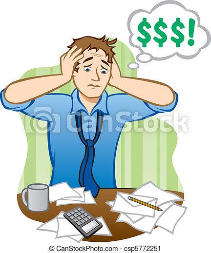 geld, probleme - csp5772251