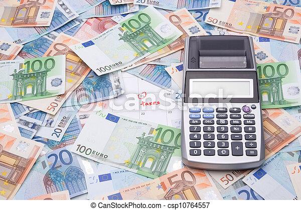 geld, rekenmachine, concept, -, belastingen - csp10764557