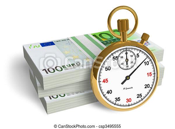 geld, tijd - csp3495555