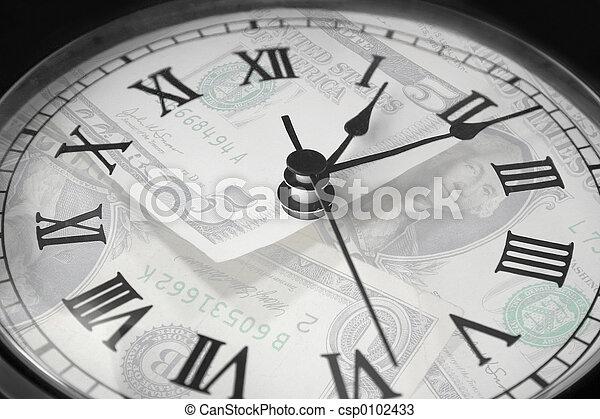 geld, tijd - csp0102433