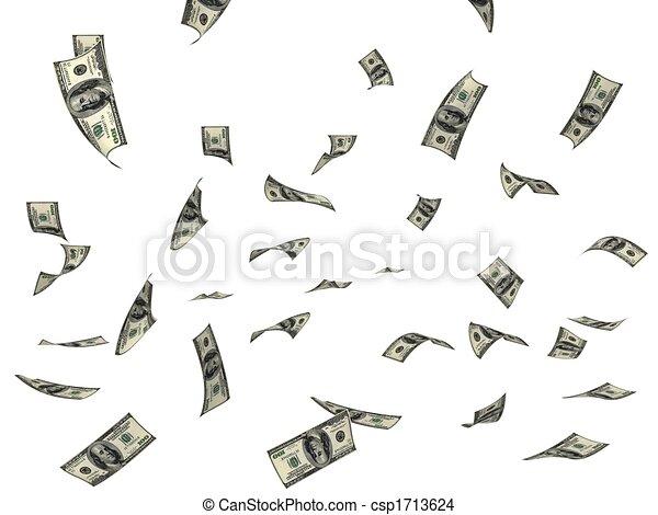 geld, vliegen - csp1713624