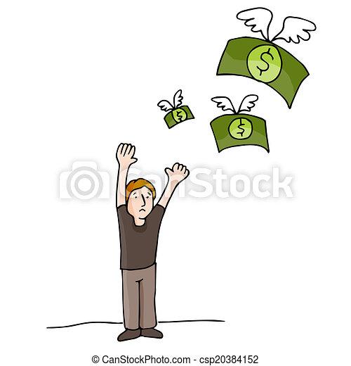 Geld fliegt weg - csp20384152