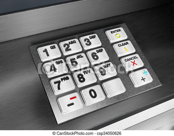 Tastenfeld Geldautomat