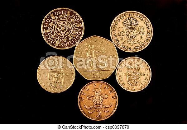 Geldmünzen Altes Englisches Geld Metrisch änderung Britisch