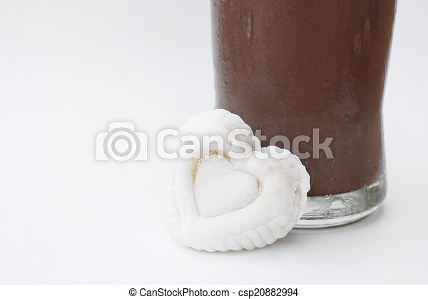 gelo, marshmallow, chocolate - csp20882994